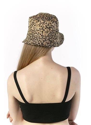 Y-London 14017 Leopar Desenli Çift Taraflı Bucket Şapka Renkli